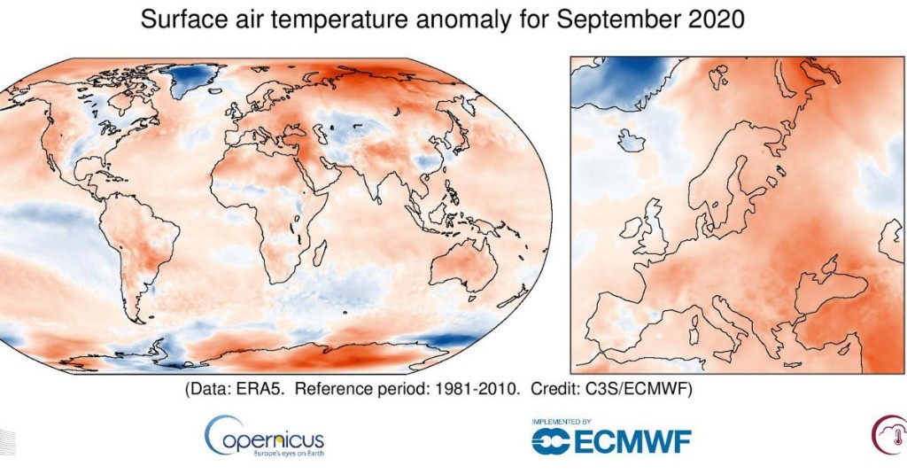Siberia Burned. Arctic Ice Shrank. This Was the World's Hottest September Ever