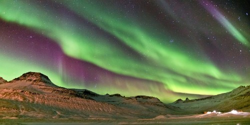 Streetlights Go Out in Iceland to Let the Northern Lights Shine Bright