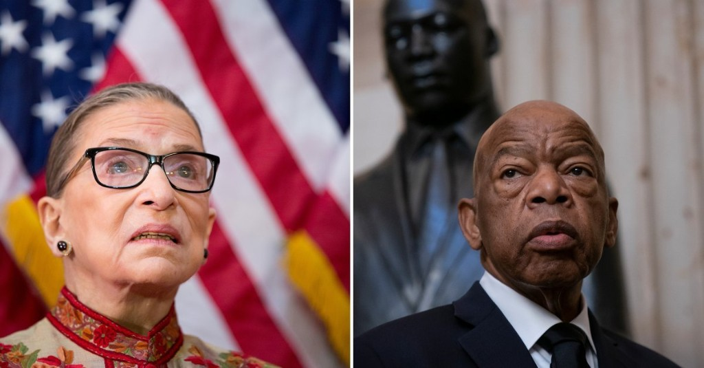 Ruth Bader Ginsburg and John Lewis Spent Their Golden Years Fighting for Us Because They Didn't See Any Other Choice