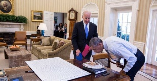 Barack Obama and Joe Biden's Great American Bromance