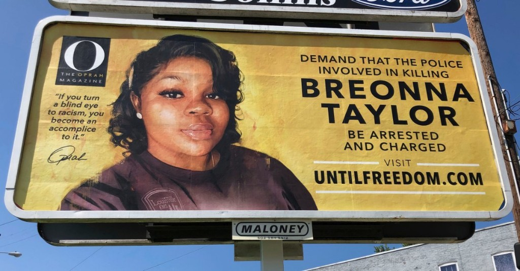 Oprah Winfrey Demands Justice for Breonna Taylor with 26 Billboards — One for Every Year of Her Life — Across Louisville
