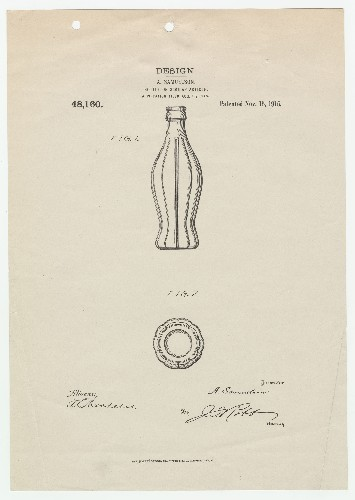 See the Original Coke Bottle Patent Granted 100 Years Ago