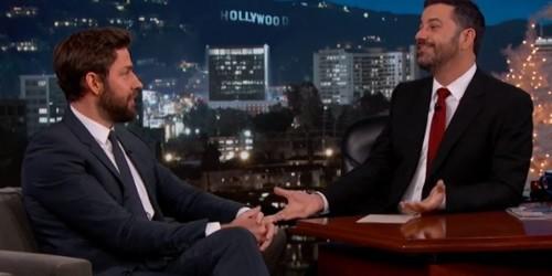 Watch John Krasinski and Jimmy Kimmel Continue Their Holiday Prank War