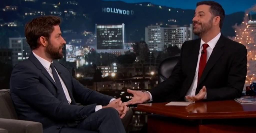 Watch John Krasinski and Jimmy Kimmel Play Holiday Pranks on Each Other