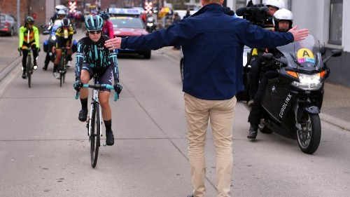 A Female Cyclist Was Forced to Stop Mid-Race When She Almost Caught Up to the Men