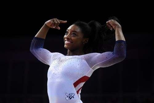 Simone Biles' Historic Routine In Epic Slo-Mo Is Art at Its Finest