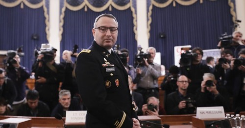 Lt. Col. Alexander Vindman, Who Testified Against Trump, Escorted Out of White House