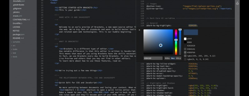 Adobe Launches Brackets V1.0, An Open-source Text Editor for Web Designers