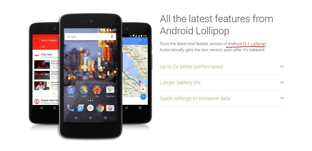 Android Lollipop 5.1 Makes its Debut on Android One Phones