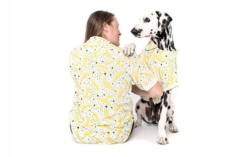 Matching Hawaiian shirts for you and your dog are the cutest way to celebrate summer