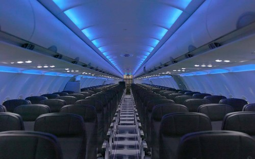 When JetBlue's cabin refresh is done, you're going to have a little less legroom