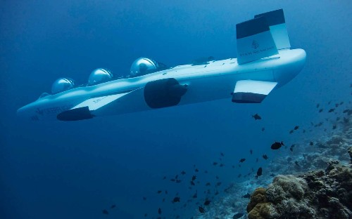 You can take a personal submarine through a biosphere reserve in the Maldives
