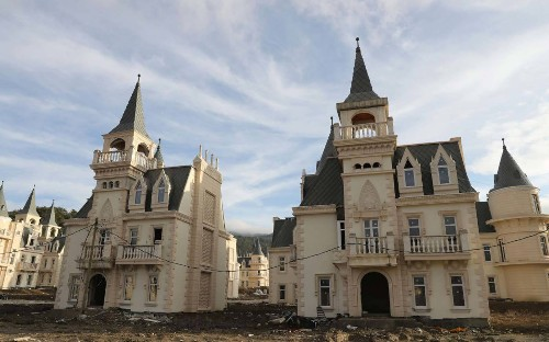 There's a $200-million Abandoned Village of Disney-like Castles in Turkey