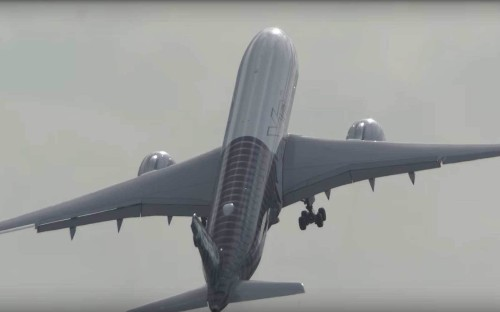 Watch an A350 take off almost vertically