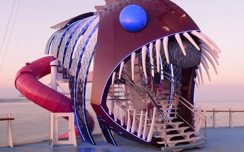 This cruise ship will have the tallest waterslides at sea