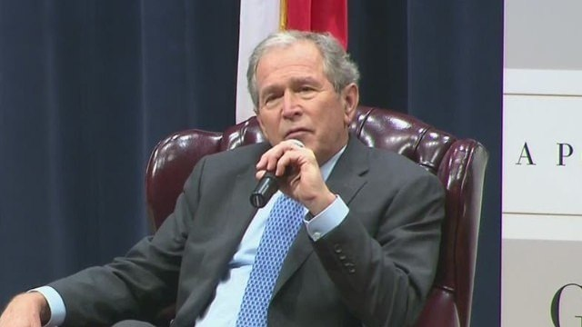George W. Bush 'wanted Dad to be alive' to read biography