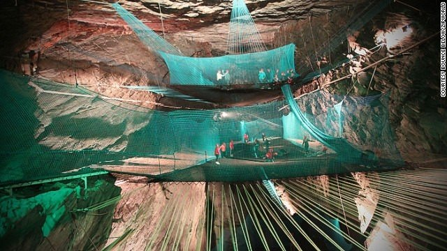 Deep thrills: Crazy cave trampolines in Wales | CNN Travel