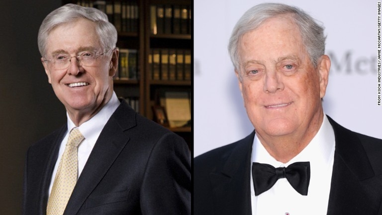 Koch brothers set staggering spending goals