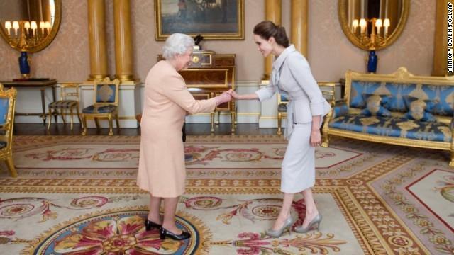 Queen Elizabeth makes Angelina Jolie a dame