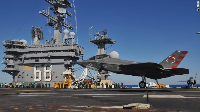 Navy's newest fighter makes first carrier landing