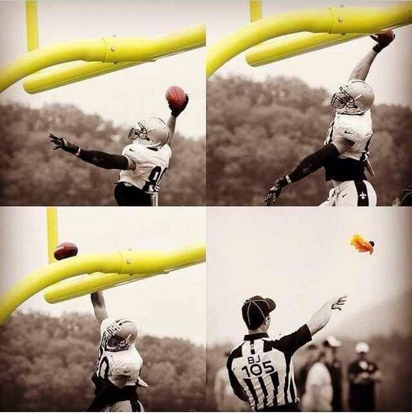 Jimmy Graham penalized for TD dunk
