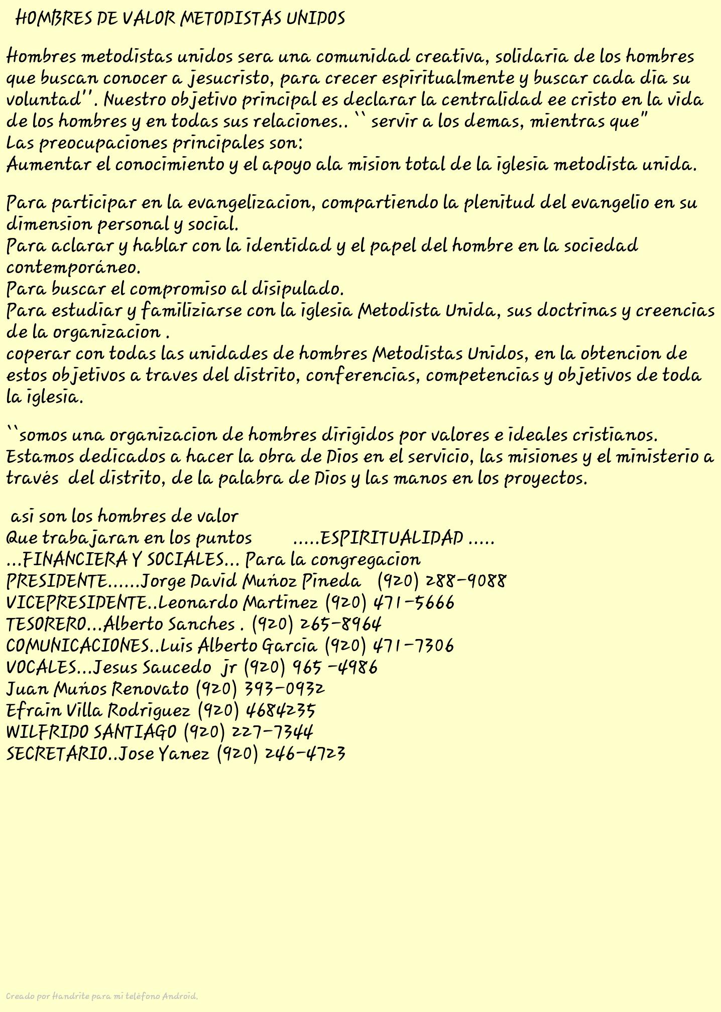 Miembros De La Directiva - Magazine cover