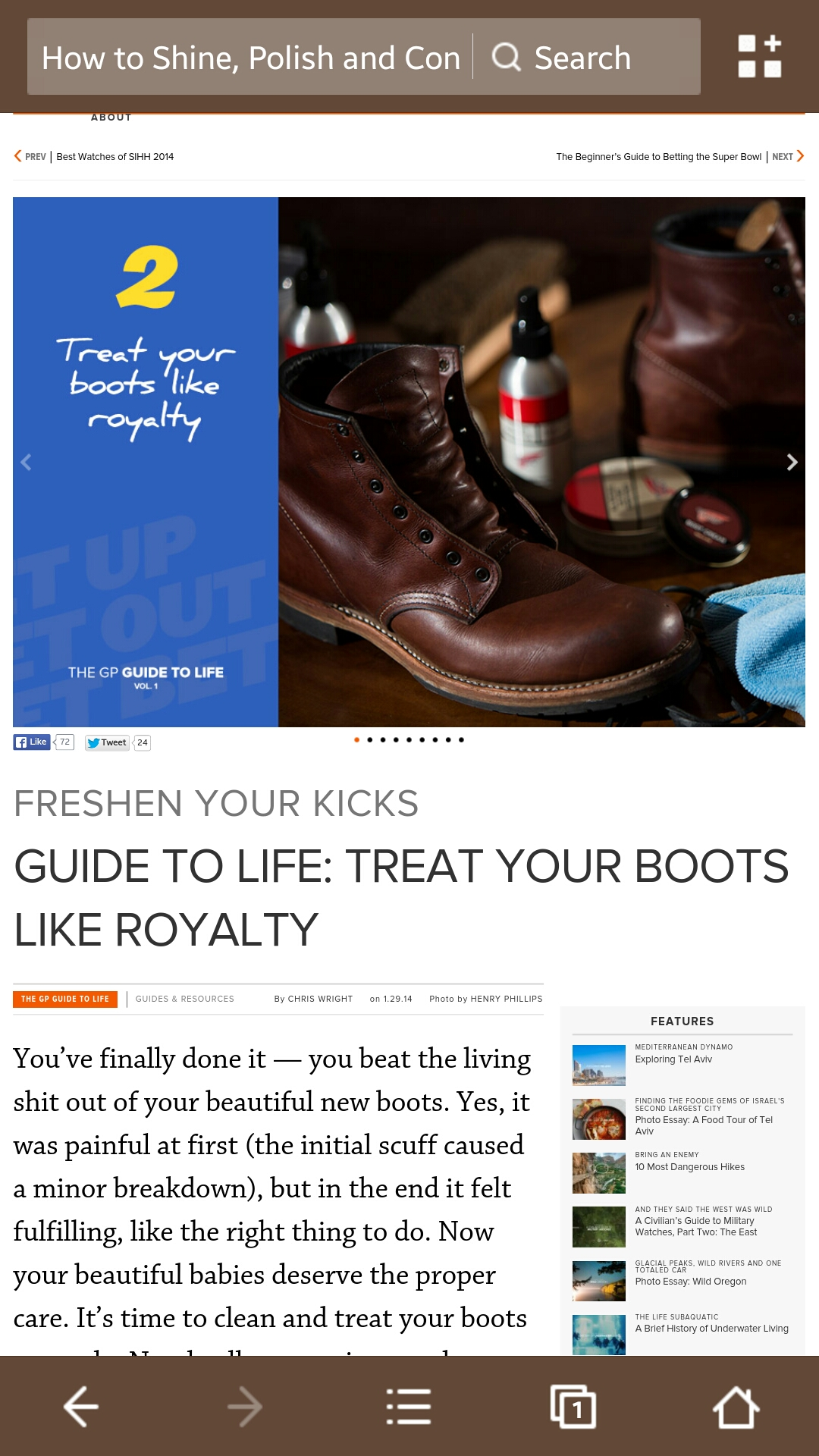 Footwear - Magazine cover