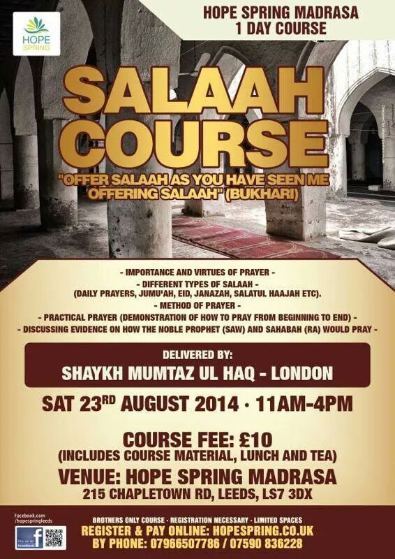 Islamic Events & Courses - Cover