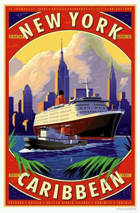 Vintage Cruise Line Posters - Magazine cover
