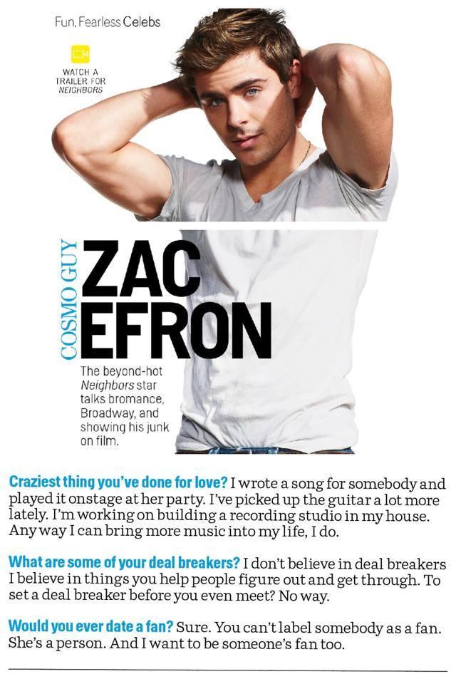 Zac Efron - Magazine cover