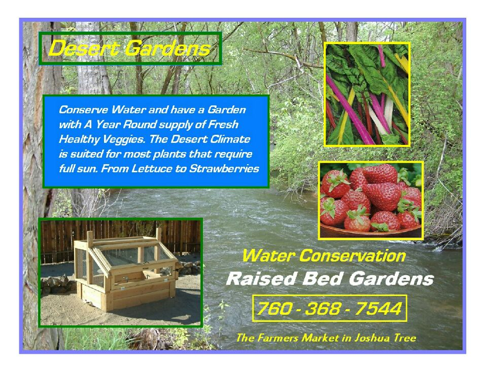 Raised bed Garden systems of the desert - Magazine cover