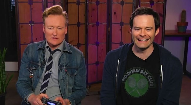 Bill Hader And Conan O'Brien Hack And Slash Their Way Through 'God Of War 4' In A Hilarious Clueless Gamer