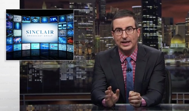 John Oliver Slams Sinclair Broadcasting After A Video Of Anchors Forced To Read 'False News' Warnings Went Viral