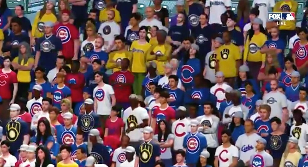 Fox Put 'Virtual Fans' In The Seats For Cubs-Brewers And It Was Weird