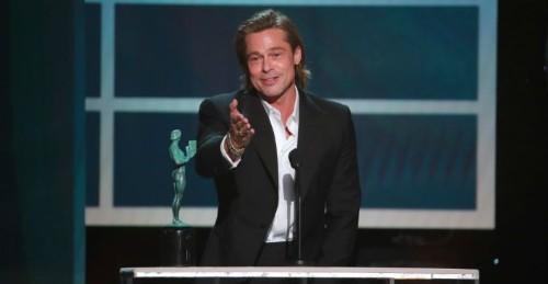 Brad Pitt's Hilarious Acceptance Speech Stole The Show At The SAG Awards
