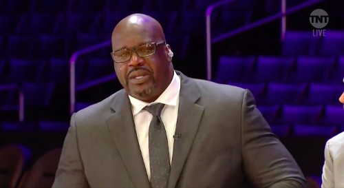 A Heartbroken Shaq Gave A Tearful Tribute To Kobe Bryant On TNT