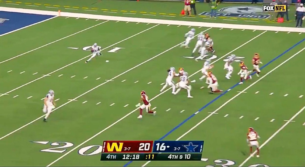 Washington Was Thankful For This Awful Fake Punt The Cowboys Tried
