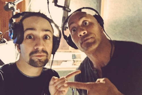 Lin-Manuel Miranda Was Joined By The Rock To Sing Disney's Greatest Hits