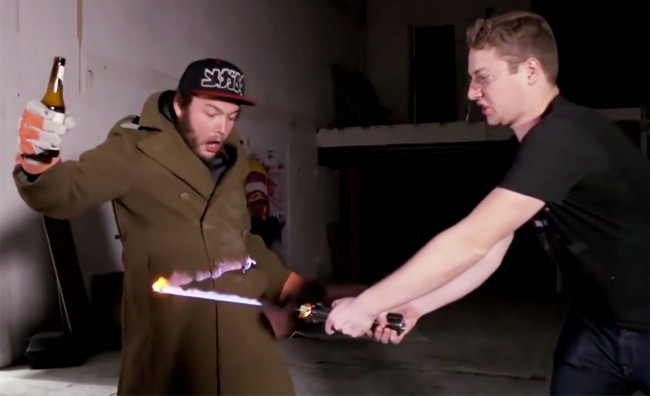 This Mad Genius Built His Own 'Star Wars' Lightsaber And It Runs On Alcohol