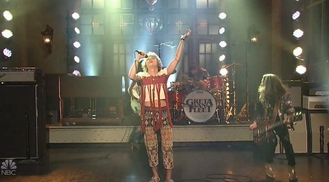 Watch Greta Van Fleet's Performance Of 'Black Smoke Rising' On 'SNL'