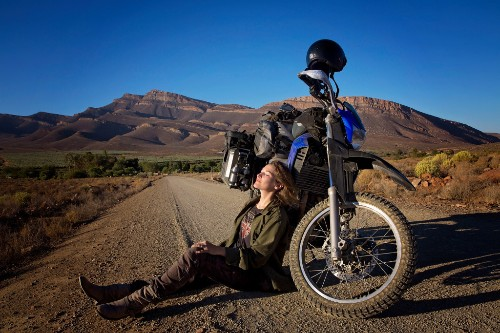 This Woman Travels The World Alone On The Back Of A Motorcycle