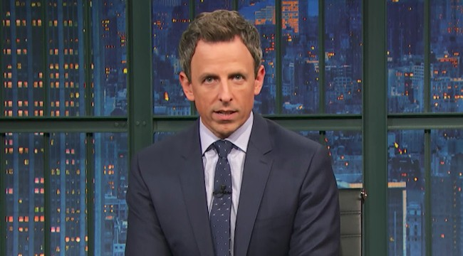 Seth Meyers Shares His Thoughts On Late Night TV's Tardiness In Commenting On Harvey Weinstein