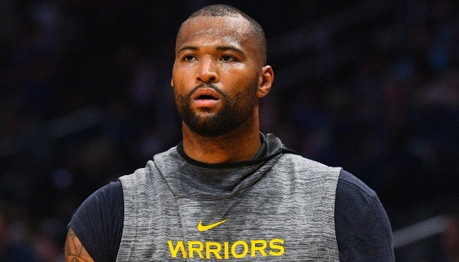 The Warriors Bench Exploded After DeMarcus Cousins' First Dunk During His Debut