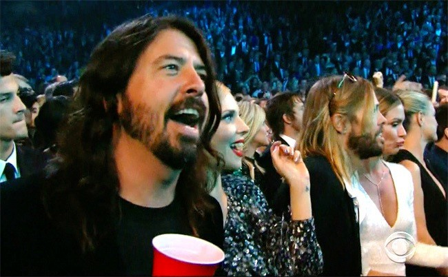 Dave Grohl's Red Solo Cup Is The Surprise Star Of The Grammys