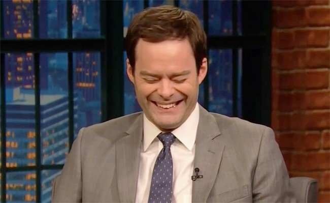 Bill Hader Tells Seth Meyers What John Mulaney Whispered In His Ear During Stefon's Return On 'SNL'
