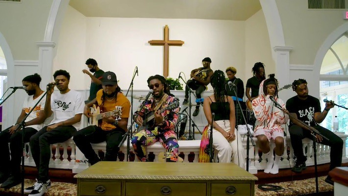 Spillage Village Went To Church For Their NPR Tiny Desk Performance