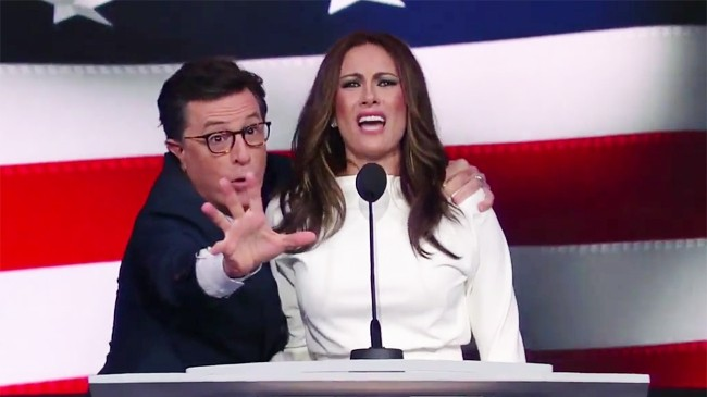 Stephen Colbert Gives Melania Trump A Chance To Defend Herself On 'The Late Show'