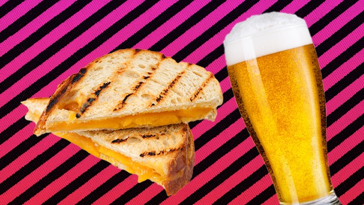 The Best Beers For Grilled Cheese -- The Ultimate Quarantine Pairing