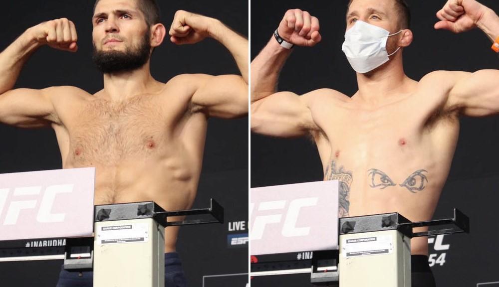 UFC 254 video: Khabib Nurmagomedov, Justin Gaethje make weight on 'Fight Island'