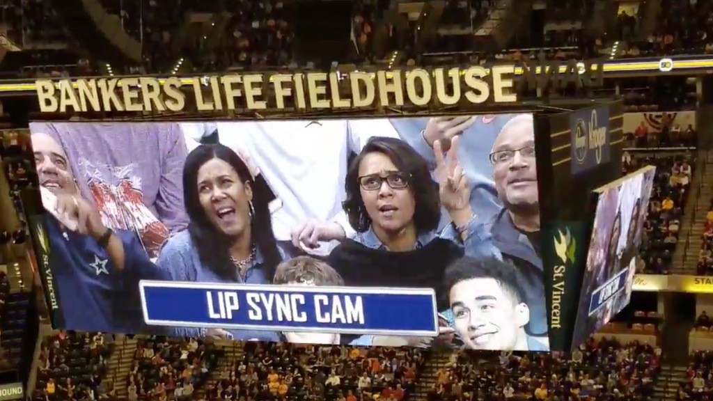 The Pacers trolled Mariah Carey by rolling out a hilarious 'Lip Sync Cam'